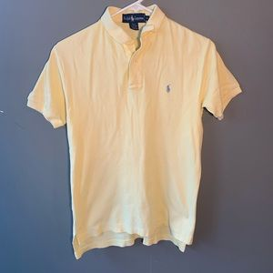 Ralph Lauren Polo Shirt Pale Yellow